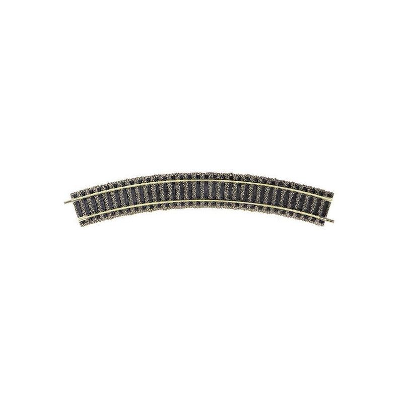 Rail courbe  - H0 - code 100 - traverses bois - avec ballast - Voie Profi -  R1 : 356,50 mm  - 10 coupons/cercle