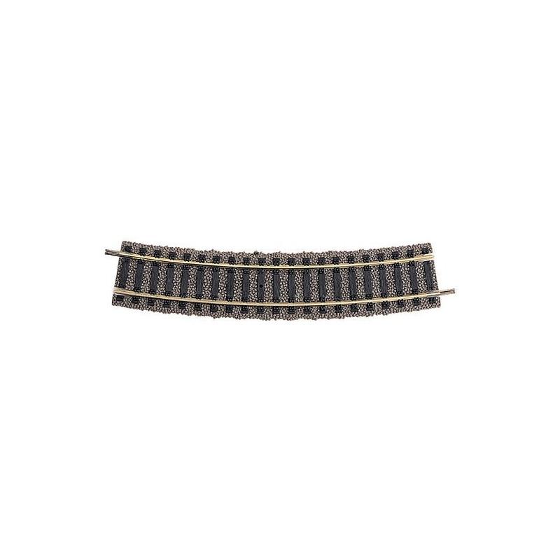 Rail courbe  - H0 - code 100 - traverses bois - avec ballast - Voie Profi -  R3 : 483,50 mm  - 20 coupons/cercle