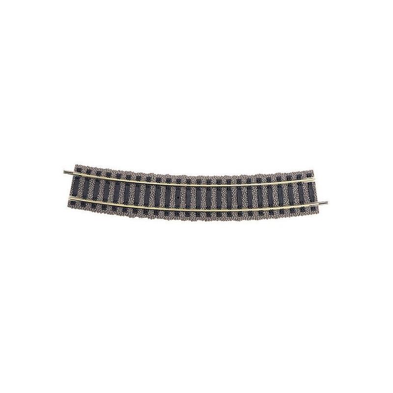 Rail courbe  - H0 - code 100 - traverses bois - avec ballast - Voie Profi -  R4 : 547 mm  - 20 coupons/cercle