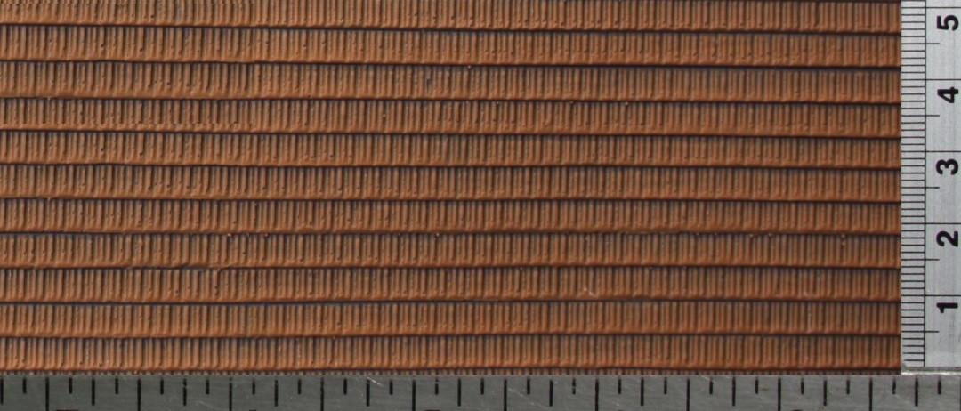 Plaque Texture 3d Autocollante Toit Tuiles Mecaniques H0 La Maison Des Trains