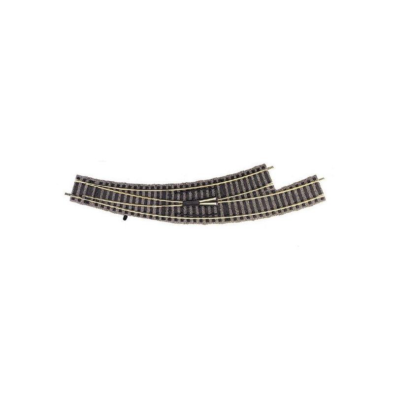 Aiguille enroulée gauche manuelle - H0 - code 100 - traverses bois - avec ballast - Voie Profi - R1 : 356,50 mm / R2 : 420 mm