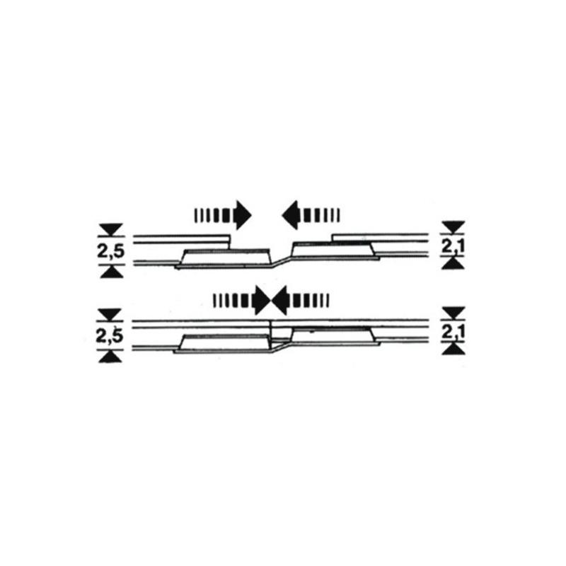 Eclisses métalliques de transition x20  - H0 - code 100 / 83 - Voie Profi