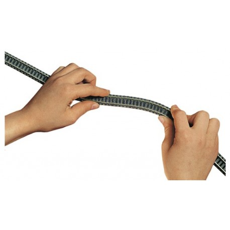 Rail flexible  - N - code 80 - traverses bois - avec ballast - Voie Profi