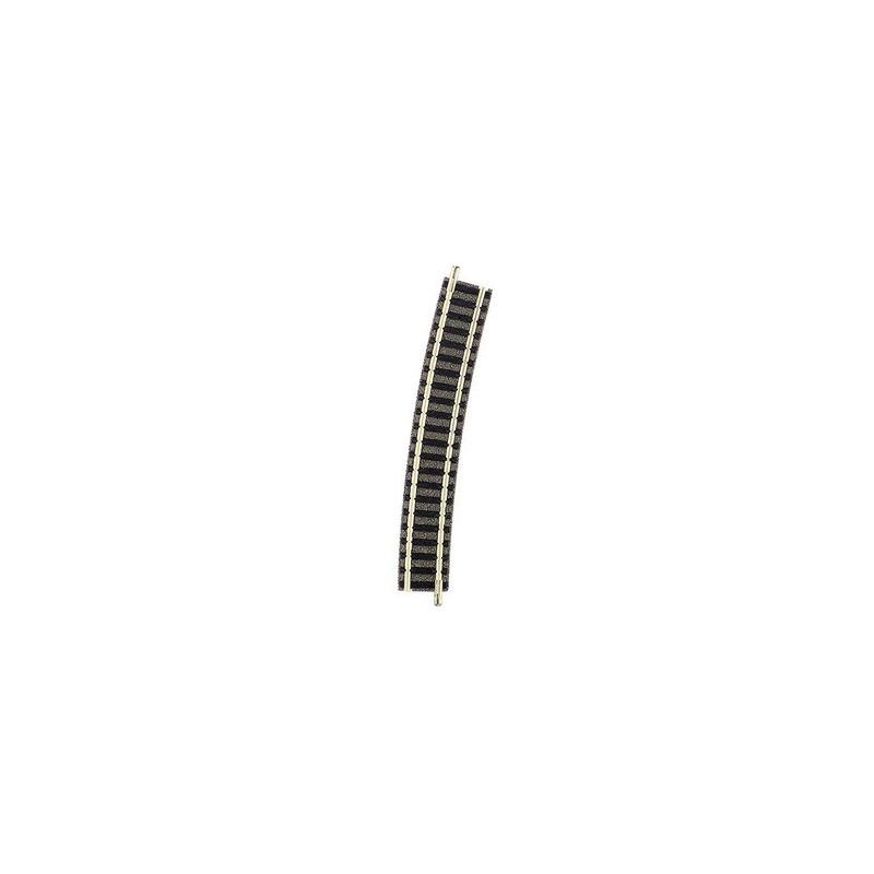 Rail courbe  - N - code 80 - traverses bois - avec ballast - Voie Profi - R3 : 396,4 mm  - 24 coupons/cercle