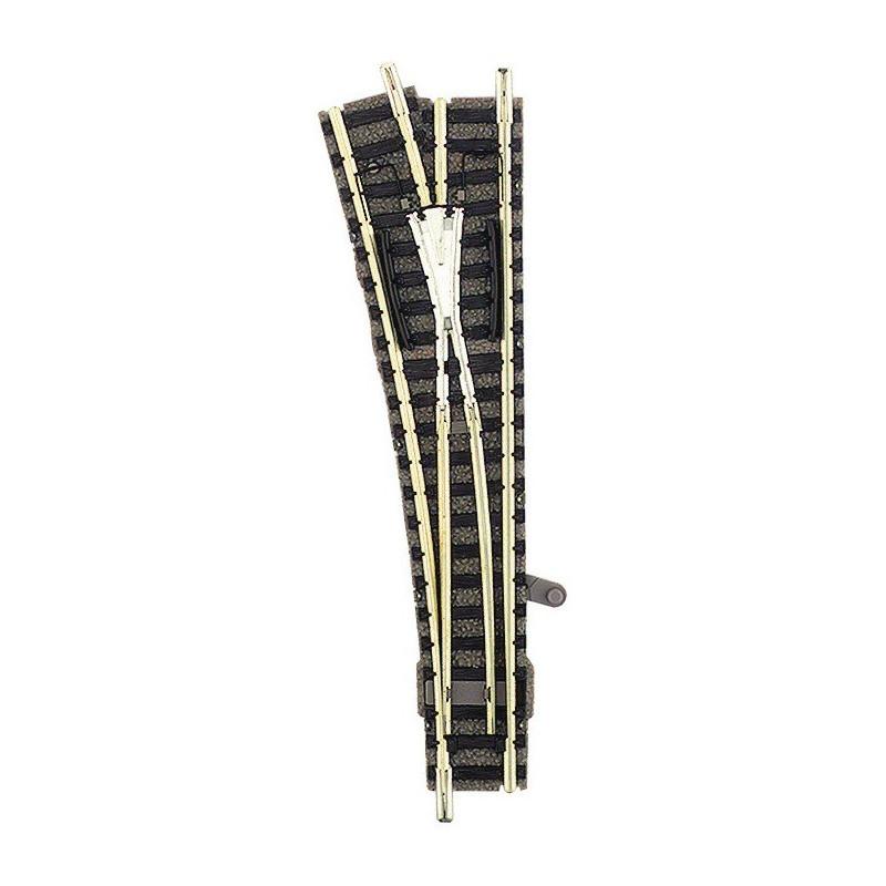 Aiguille standard gauche manuelle - N - code 80 - traverses bois - avec ballast - Voie Profi - R4 : 430 mm