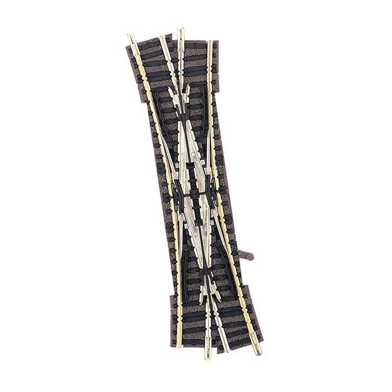 TJD manuelle 15° - N - code 80 - traverses bois - avec ballast - Voie Profi - R4 : 430 mm