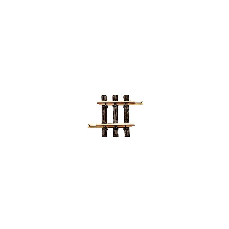 Rail droit  - G - code 332 - traverses bois - sans ballast