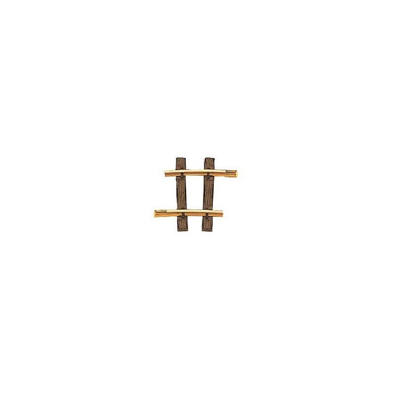 Rail courbe  - G - code 332 - traverses bois - sans ballast - R1 : 1 200 mm - 48 coupons/cercle