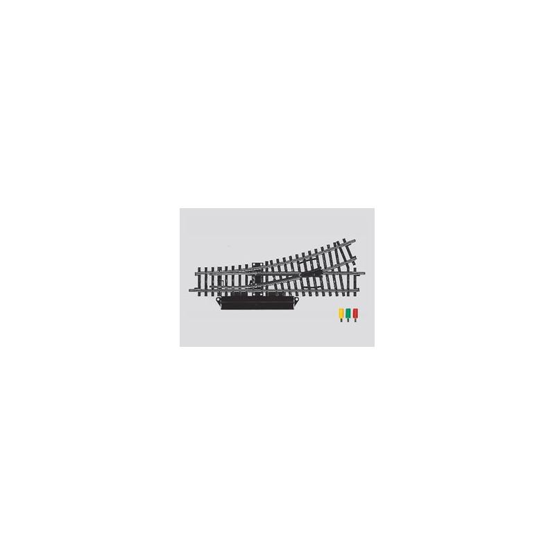 Aiguille standard gauche électrique - H0 - code 100 - traverses bois - sans ballast - Voie K - R2:424,60 mm - courant alternatif