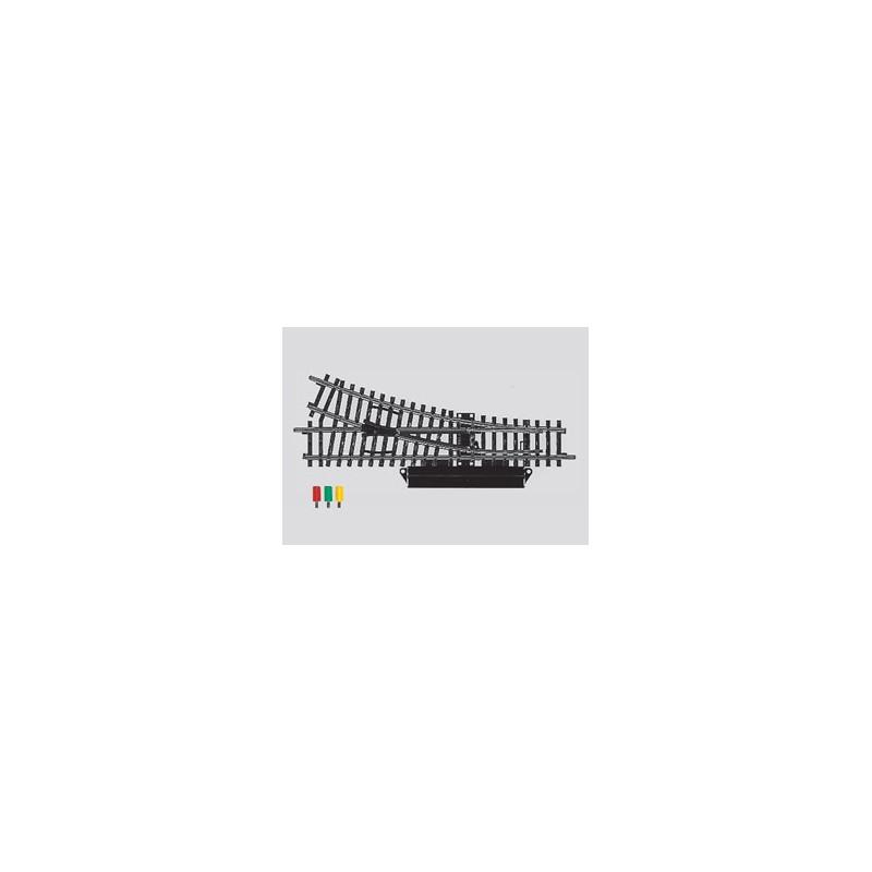 Aiguille standard droite électrique - H0 - code 100 - traverses bois - sans ballast - Voie K - R2:424,60 mm - courant alternatif