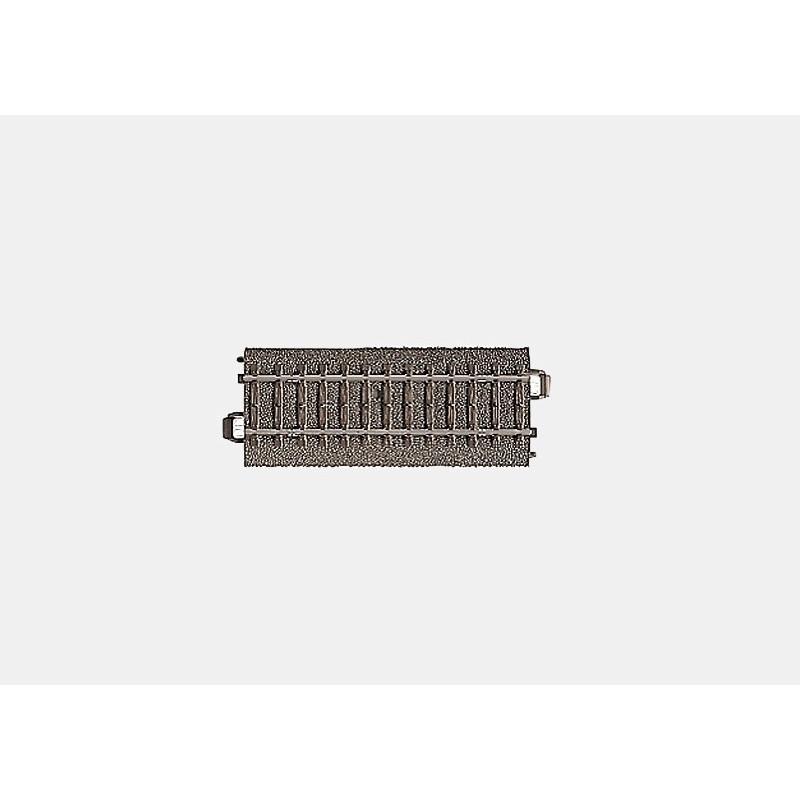 Rail droit  - H0 - code 90 - traverses bois - avec ballast - Voie C - courant alternatif
