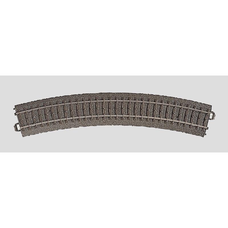 Rail courbe  - H0 - code 90 - traverses bois - avec ballast - Voie C - R2 : 437,5 mm  - 12 coupons/cercle - courant alternatif