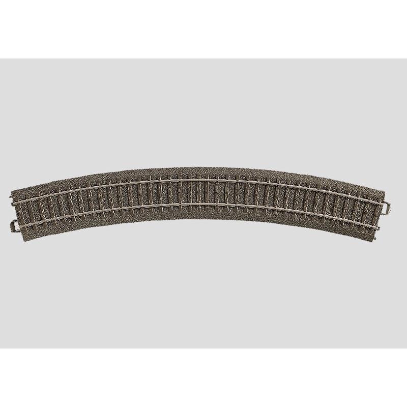 Rail courbe  - H0 - code 90 - traverses bois - avec ballast - Voie C - R3 : 515 mm  - 12 coupons/cercle - courant alternatif