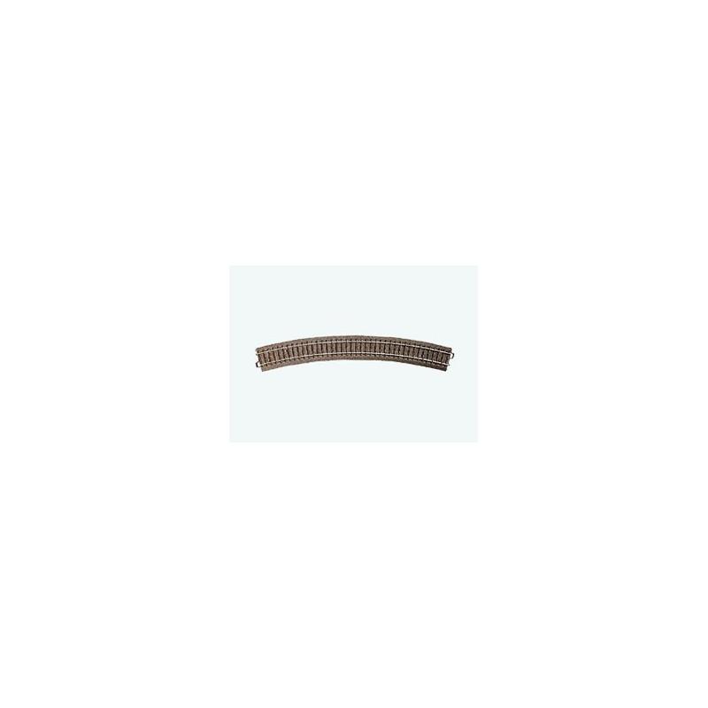 Rail courbe  - H0 - code 90 - traverses bois - avec ballast - Voie C - R4 : 579,3 mm  - 12 coupons/cercle - courant alternatif