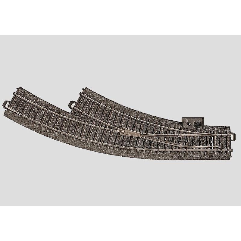 Aiguille enroulée droite 30° - H0 - code 90 - traverses bois - avec ballast - Voie C - R1 : 360 mm / R2 : 437,50 mm - alternatif