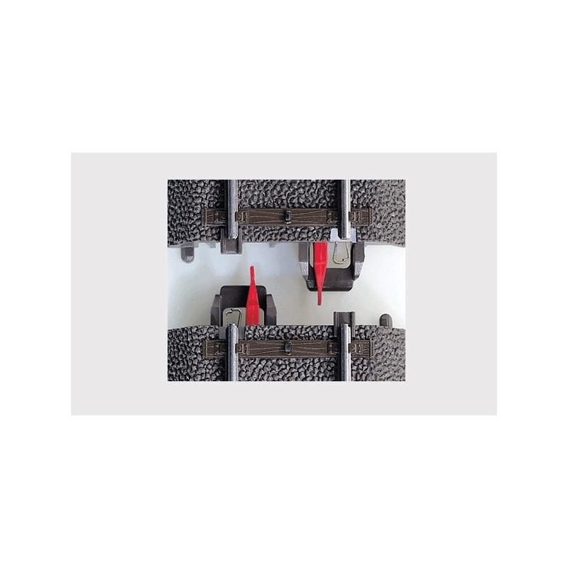 Isolateurs de conducteur central x8 - H0 - Voie C - courant alternatif