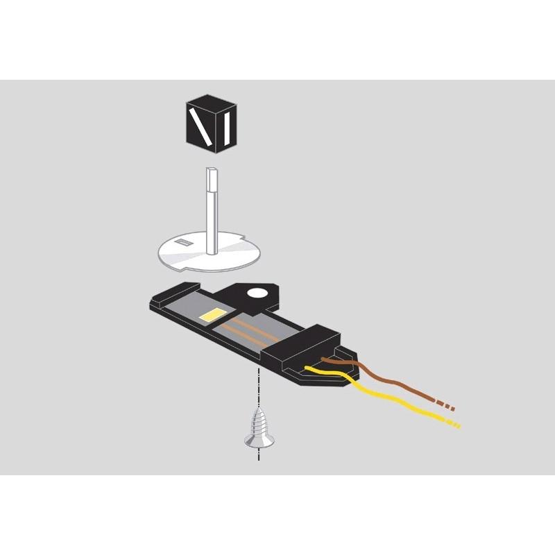 Lanternes d'aiguille  x2 - H0 - Voie C - courant alternatif