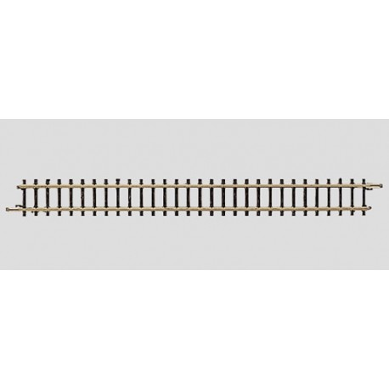Rail droit  - Z - code 60 - traverses bois - sans ballast - courant continu