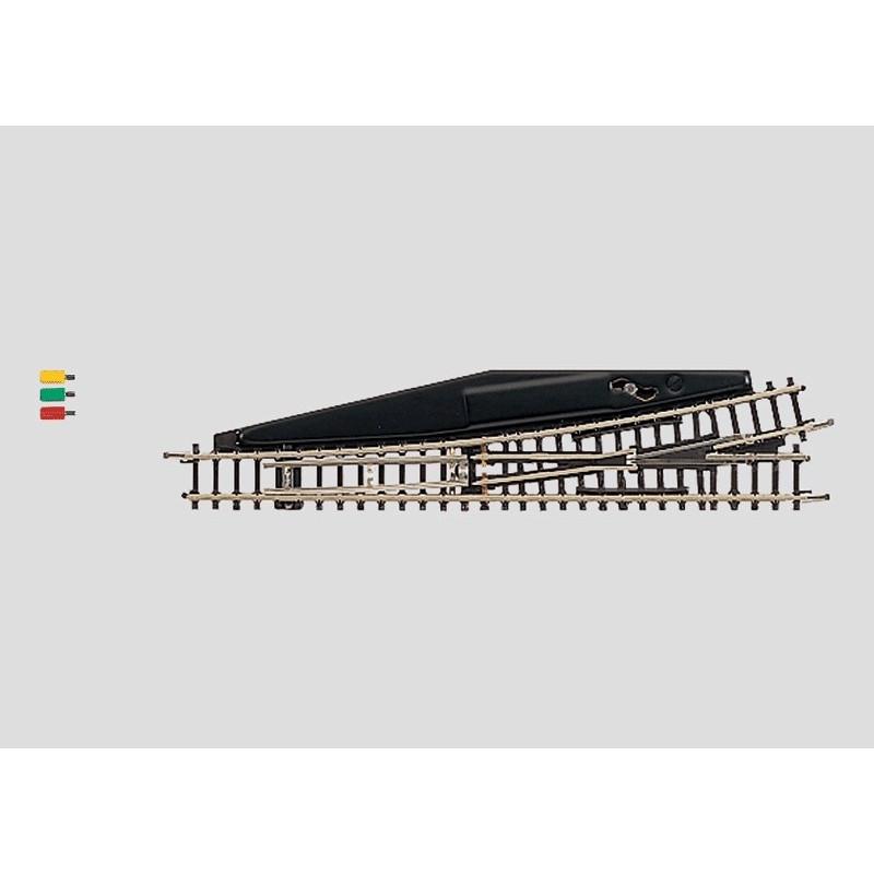 Aiguille standard gauche électrique 13° - Z - code 60 - traverses bois - sans ballast - R : 490 mm - courant continu