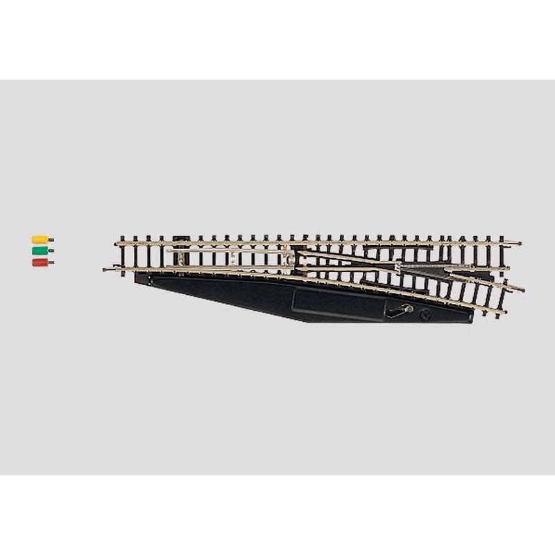 Aiguille standard droite électrique 13° - Z - code 60 - traverses bois - sans ballast - R : 490 mm