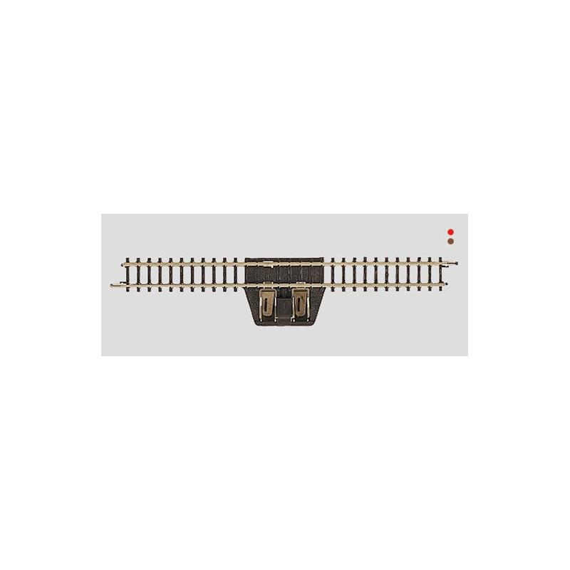Rail droit d'alimentation  - Z - code 60 - traverses bois - sans ballast