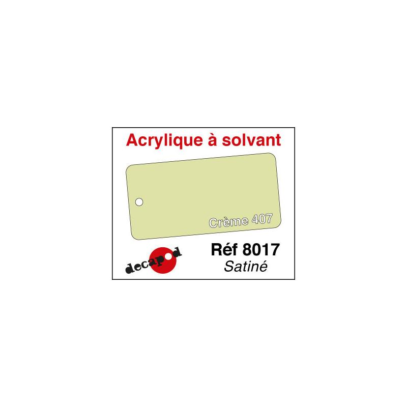 Acrylique à solvant Crème 407 satiné - 30 ml