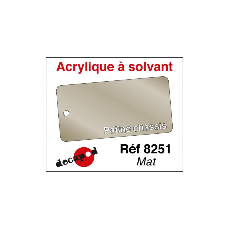 Acrylique à solvant Patine châssis mat - 30 ml