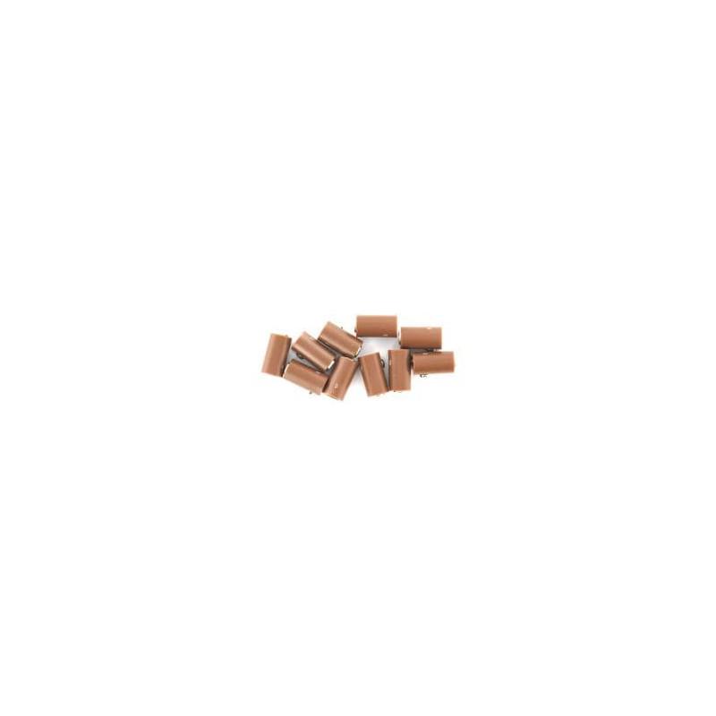 Fiche femelle - Ø 2,5 mm - marron x10