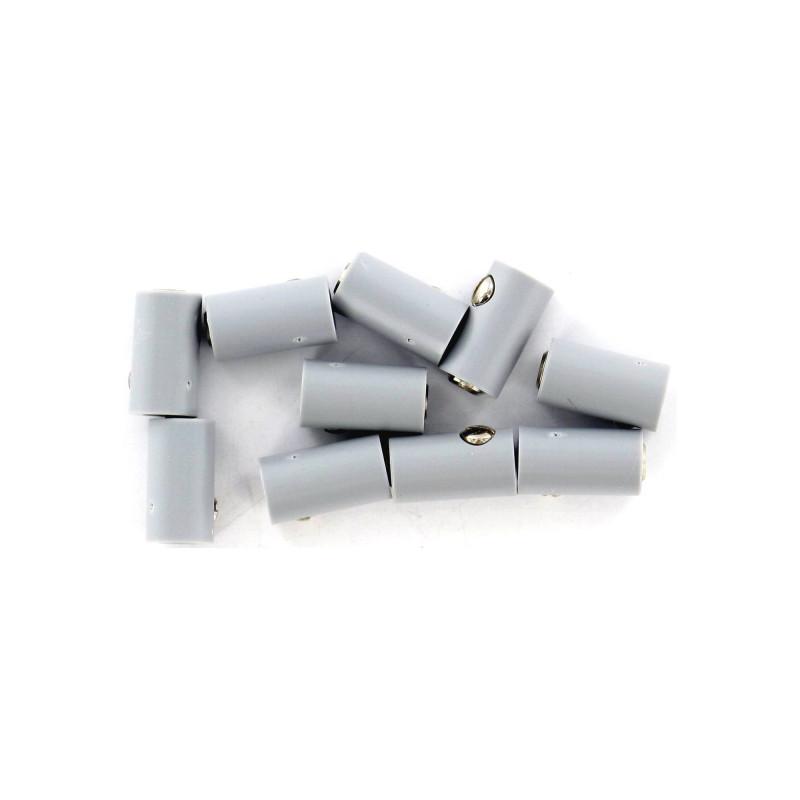 Fiche femelle - Ø 2,5 mm - grise x10