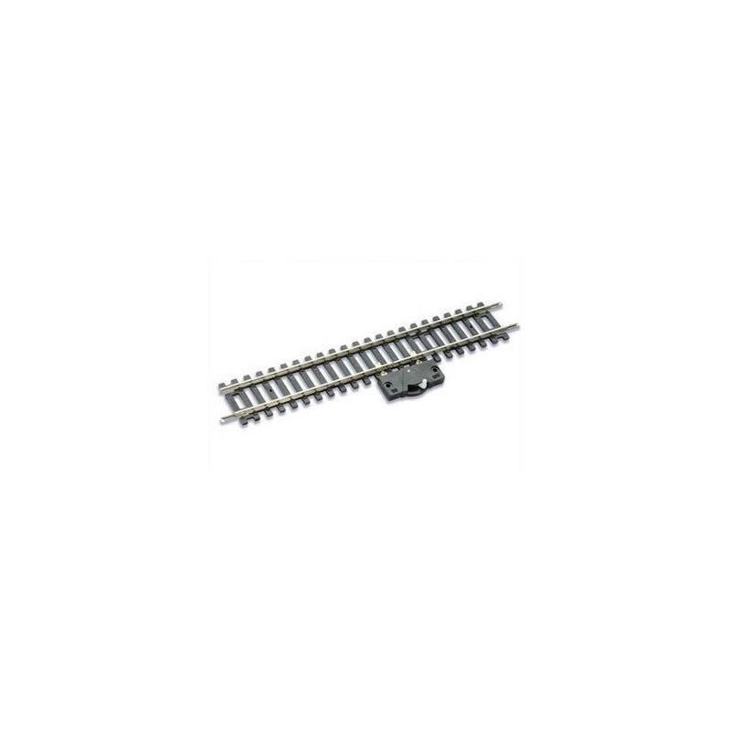 Rail droit d'isolation + interrupteur - H0 - code 100 - traverses bois - sans ballast - Voie Setrack