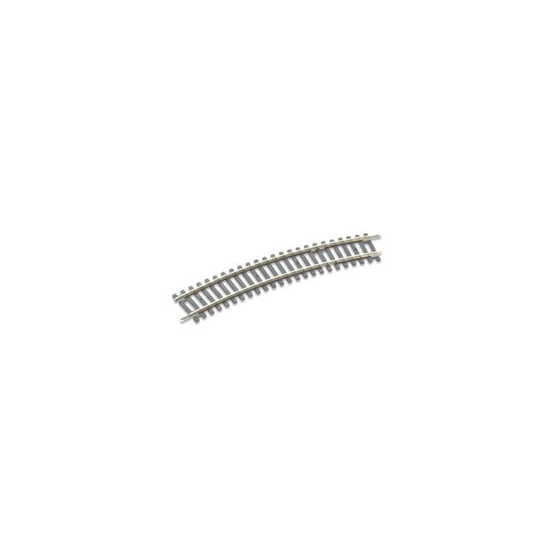 Rail courbe - H0 - code 100 - traverses bois - sans ballast - Voie Setrack - R2 : 438 mm - 16 coupons/cercle