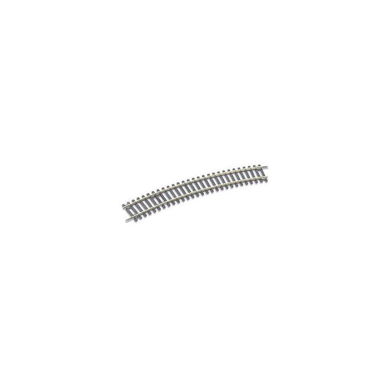 Rail courbe - H0 - code 100 - traverses bois - sans ballast - Voie Setrack - R3 : 505 mm - 16 coupons/cercle