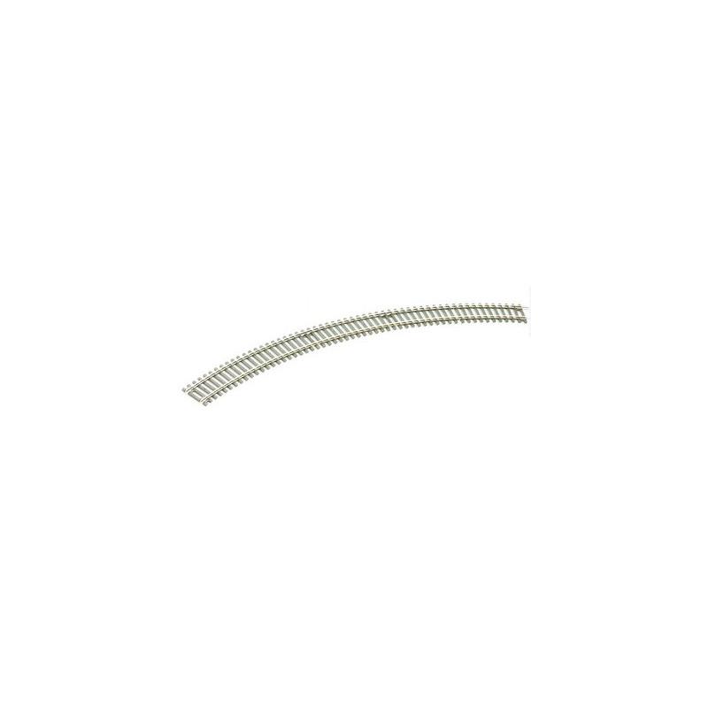 Rail courbe - H0 - code 100 - traverses bois - sans ballast - Voie Setrack - R3 : 505 mm - 8 coupons/cercle