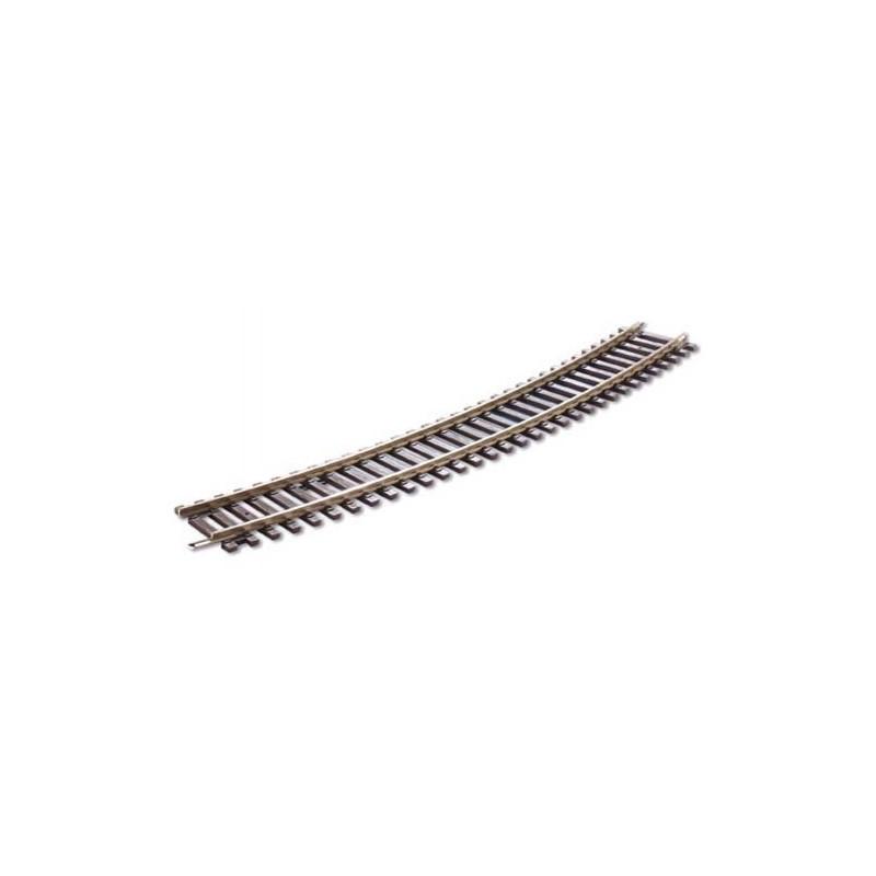 Rail courbe - H0 - code 100 - traverses bois - sans ballast - Voie Setrack - R4 : 571,1 mm - 16 coupons/cercle