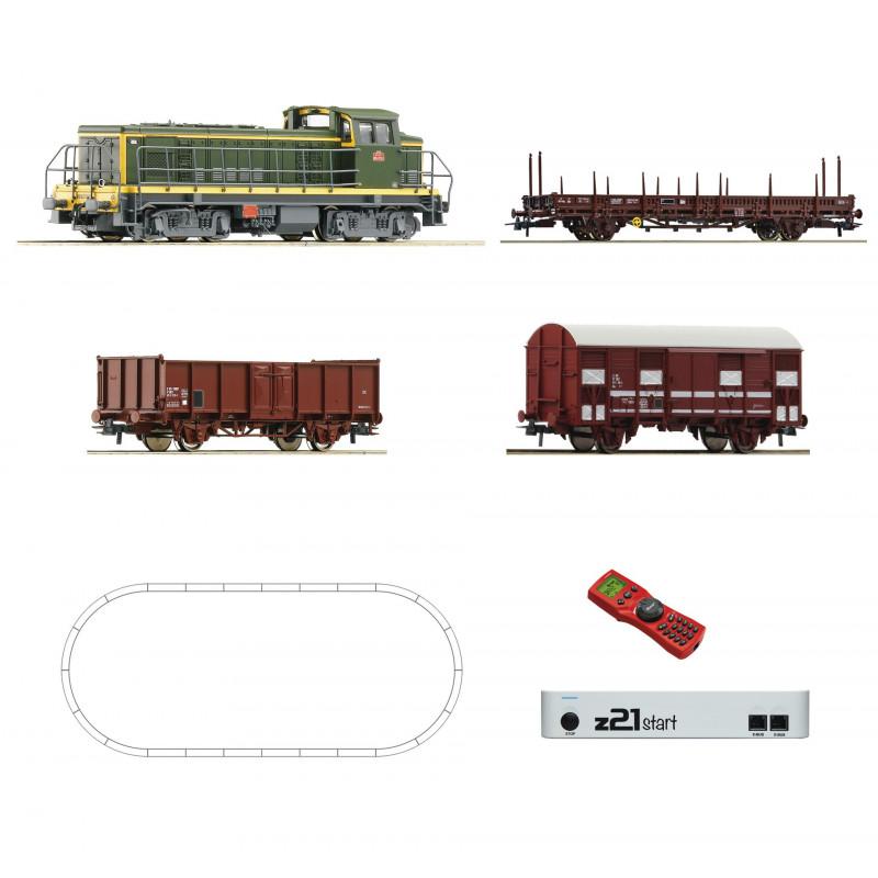 Coffret de démarrage - BB 63500 SNCF avec train de marchandises - HO - DCC