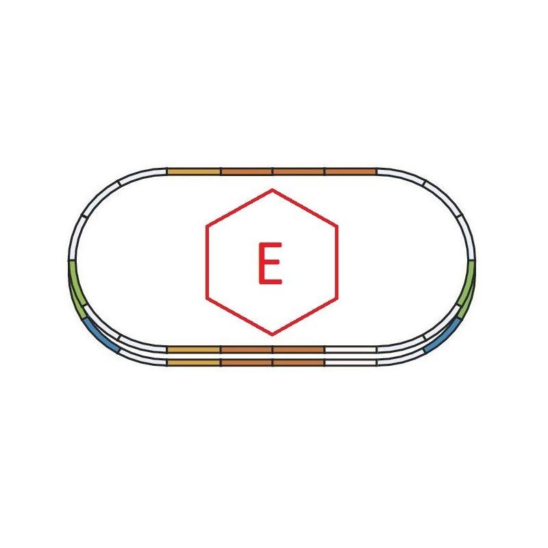 """Set d'extension de voie """"E"""" - H0 - code 100 - traverses bois - sans ballast - Voie A"""