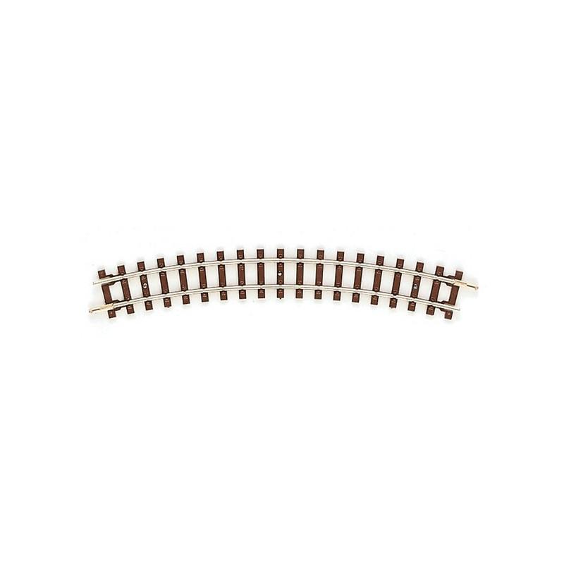 Rail courbe - H0e - code 83 - traverses bois - sans ballast - R : 261,80 mm - 12 coupons/cercle