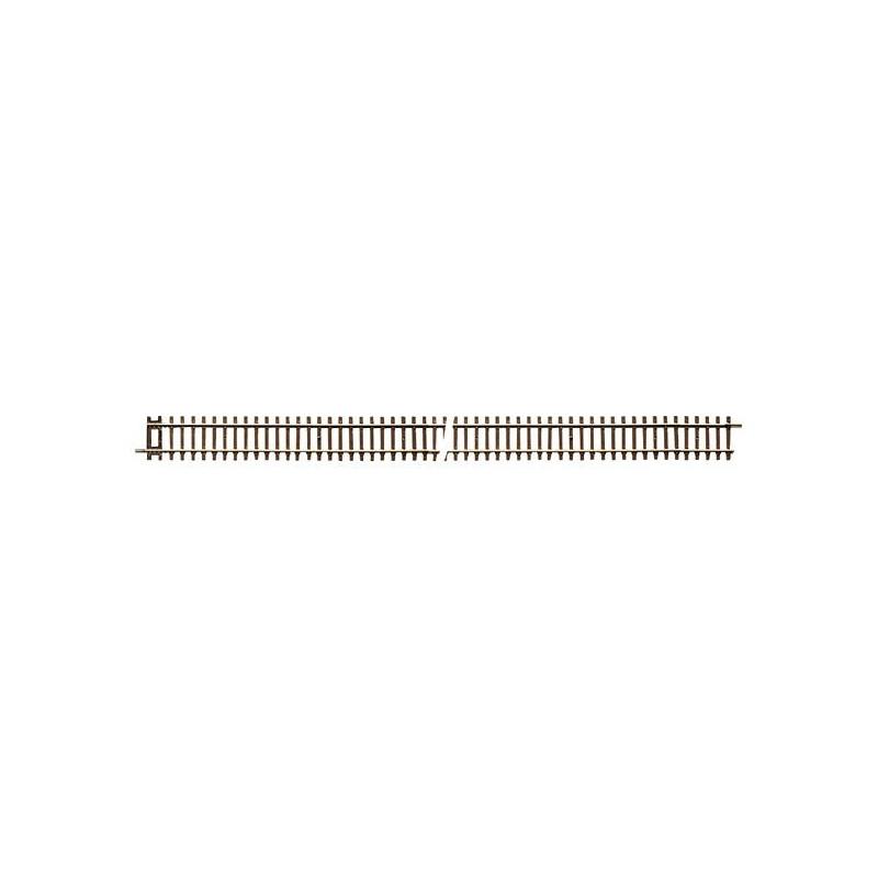 Rail droit - H0 - code 83 - traverses bois - sans ballast - Voie Roco Line