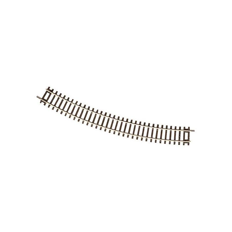 Rail courbe - H0 - code 83 - traverses bois - sans ballast - Voie Roco Line - R4 : 481,20 mm  - 12 coupons/cercle