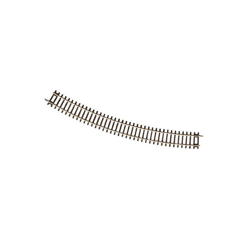 Rail courbe - H0 - code 83 - traverses bois - sans ballast - Voie Roco Line - R5 : 542,80 mm - 12 coupons/cercle
