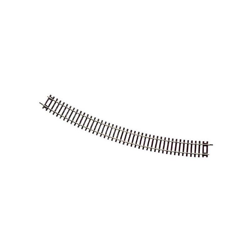 Rail courbe - H0 - code 83 - traverses bois - sans ballast - Voie Roco Line - R6 : 604,40 mm - 12 coupons/cercle