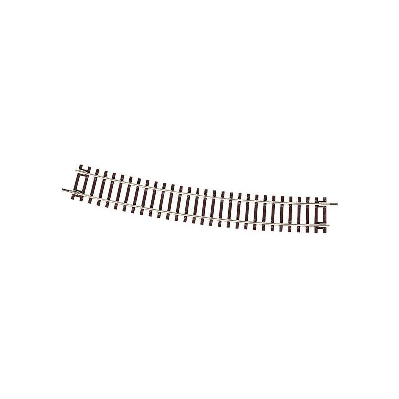 Rail courbe - H0 - code 83 - traverses bois - sans ballast - Voie Roco Line - R9 : 826,40 mm - 24 coupons/cercle