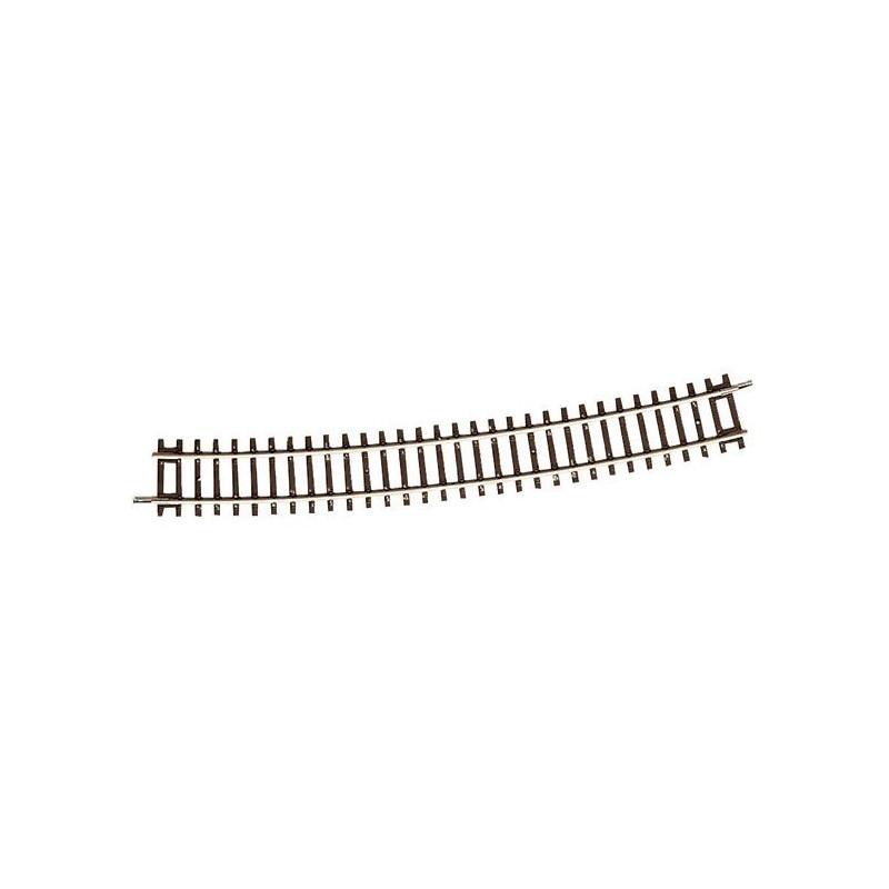 Rail courbe - H0 - code 83 - traverses bois - sans ballast - Voie Roco Line - R10 : 888 mm  - 24 coupons/cercle