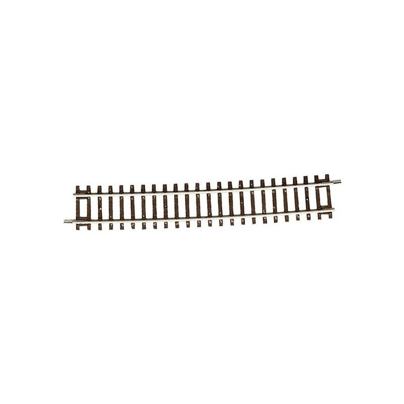 Rail courbe - H0 - code 83 - traverses bois - sans ballast - Voie Roco Line - R20 : 1 962 mm  - 72 coupons/cercle