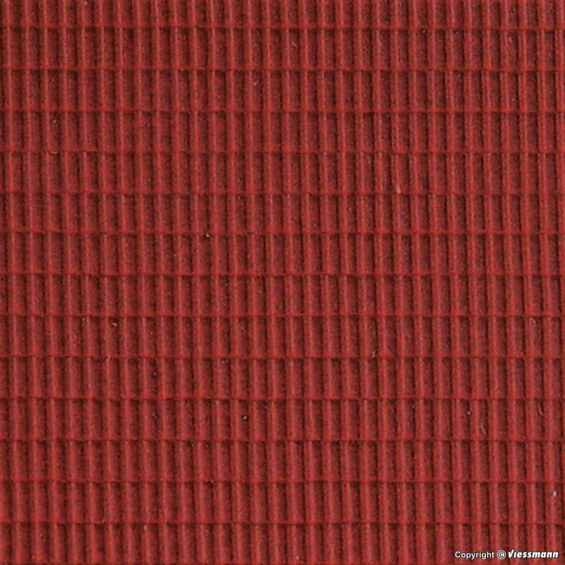 Plaque de décor aspect toit d'ardoises