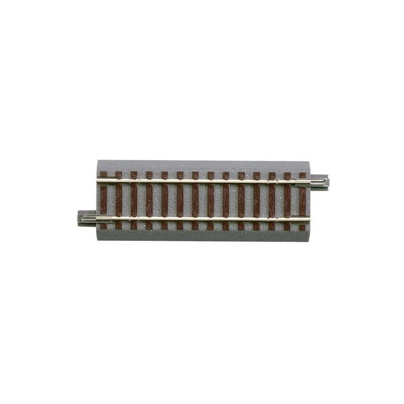 Rail droit - H0 - code 83 - traverses bois - avec ballast - Voie Geo Line