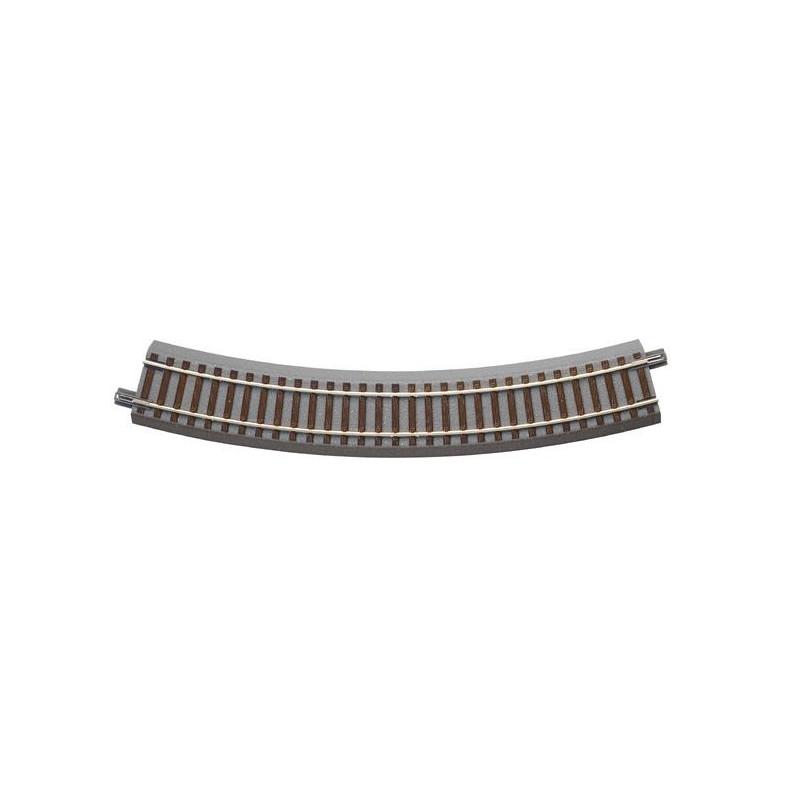 Rail courbe - H0 - code 83 - traverses bois - avec ballast - Voie Geo Line - R3 : 434,50 mm - 12 coupons/cercle