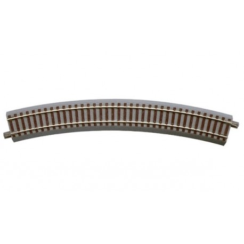 Rail courbe - H0 - code 83 - traverses bois - avec ballast - Voie Geo Line - R4 : 511,10 mm - 12 coupons/cercle