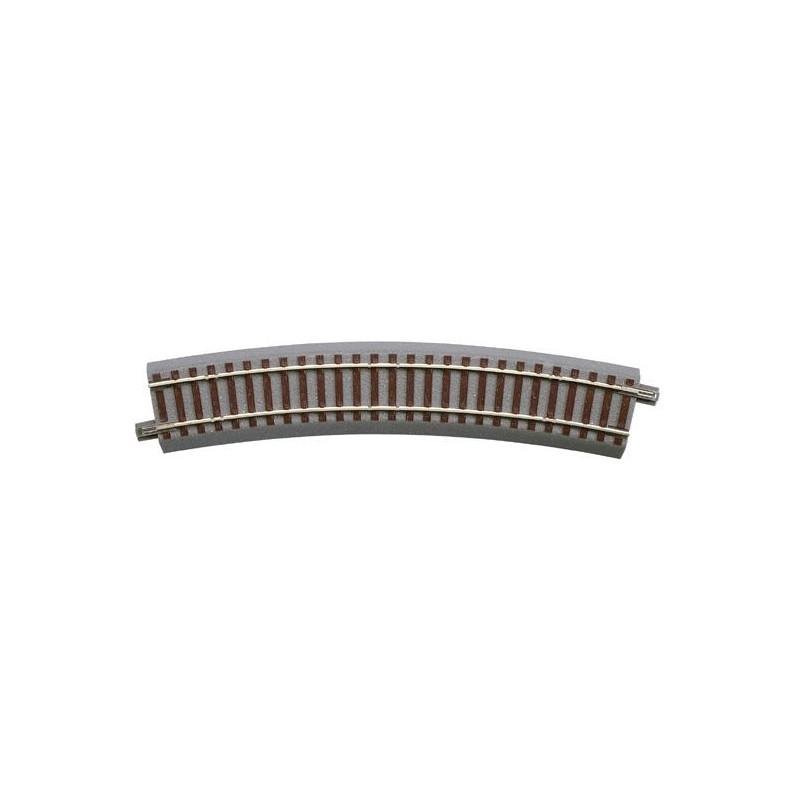 Rail courbe - H0 - code 83 - traverses bois - avec ballast - Voie Geo Line - R : 502,70 mm - 16 coupons/cercle