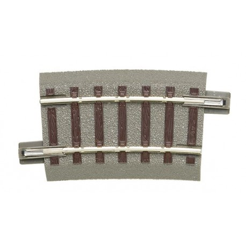 Rail courbe - H0 - code 83 - traverses bois - avec ballast - Voie Geo Line - R3 : 434,50 mm - 48 coupons/cercle